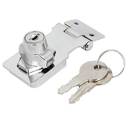 eDealMax 80mmx32mmx30mm metal tornillo de fijación Guardia de seguridad con llave del cerrojo de cierre de