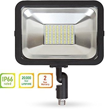 LLT LED COMPACT Floodlight with Arm SMD Outdoor Landscape Security Waterproof 50W 5000K (Daylight)