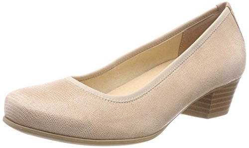 Caprice Women's 22300 Closed Toe Heels Beige (Beige Reptile 410) 5uB9ii5uHa