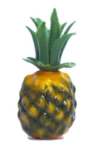 6pc Artificial Mini Pineapple - Plastic Yellow Green Pineapples Fruit - Six (Plastic Pineapple)