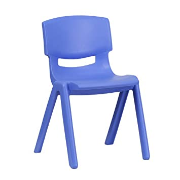 Flash Furniture 5 Pk. Blue Plastic Stackable School Chair with 13.25 Seat Height