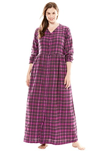 Only Necessities Women's Plus Size Flannel Plaid Lounger