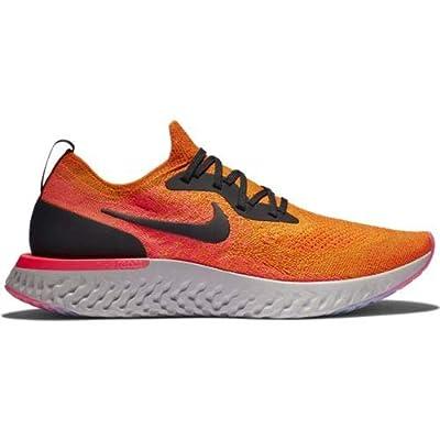 Nike Men's Epic React Flyknit Running Shoe Copper Flash/Flash Crimson/Moon Particle/Black 8.5 M US | Road Running