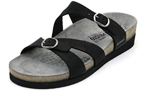 Sandals Negro Nubuck Hannel Womens Mephisto RxqTtvOw