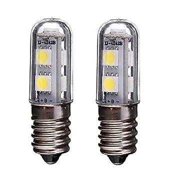 E14 Bombilla LED para lámpara de refrigerador, 1W, 220V CA, 7 leds SMD