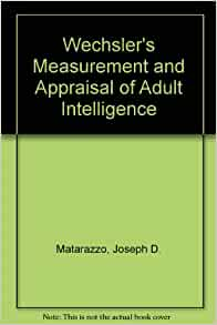 measurement of adult intelligence