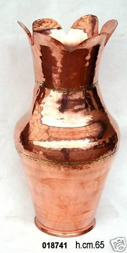 Antica Anfora Porta Ombrelli In Rame Altezza 65cm Arredamento D'antiquariato Altri Complementi D'arredo