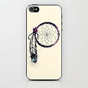 iPhone 5S Case, WKell A Feather Dreamcatcher Pattern Hard Case for iPhone 5/5S