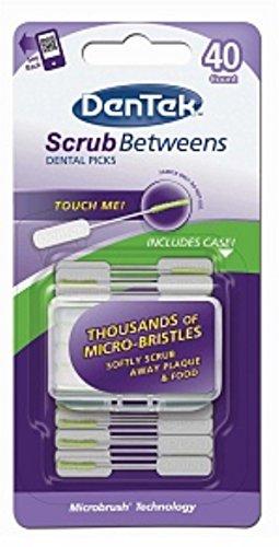 DenTek Scrub Betweens Dental Picks 40 ea (Pack of 12)