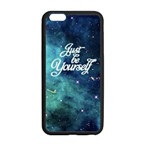 At-Baby Customized Quote Just Be Yourself Case For Iphone 6 Plus 5.5 inch (Laser Technology)