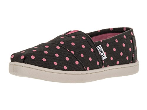Toms Kids Classics Black Pink Casual Shoe 3 Kids US