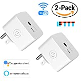 2 PACK Avatar Controls Mini Smart Plug, Wifi Wireless Socket Home Electrical Timing Outlet, Remote Control On/Off Appliances via SmartLife APP, No Hub Required, Compatible with Alexa/Google Assistant