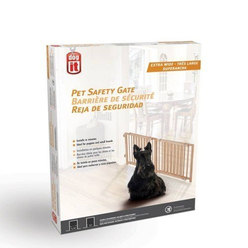 Dogit 70622 Pet Safety Gate, 48-80'' W x 18'' H by Dogit