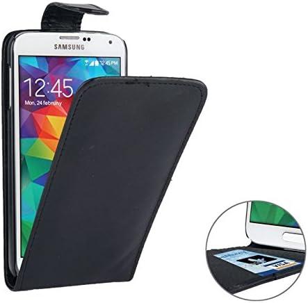 PCPC Estuche móvil Funda de Cuero Vertical Flip con Ranura de Tarjeta de crédito para Samsung Galaxy S5 / G900 Traje para Todas Las Personas (Color : Negro): Amazon.es: Hogar