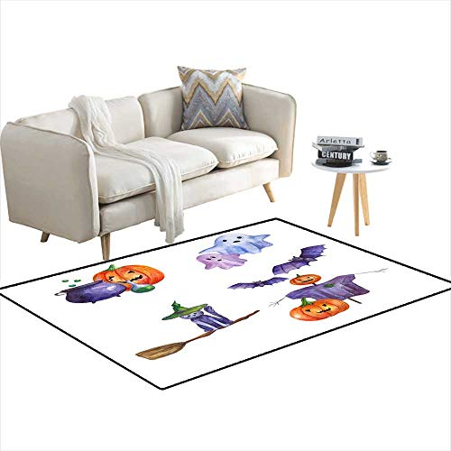 Area Rugs for Bedroom Set of Halloween Illustrations 40