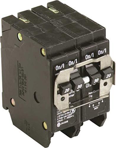 Eaton BQC220230 Quad Breaker 1-2P 20A X 1-2P 30A Ct, 1