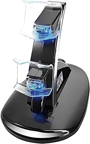 PS4 Controller Charger Charging Station, Dual USB Charger Station Stand Dock for Sony Playstation 4 PS4 and PS4 Pro PS4 Slim