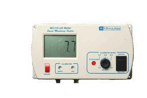 Milwaukee MC110 pH Monitor with Mounting Kit, 0.0 to 14.0 pH, +/-0.2 pH Accuracy, 3.5 to 7.5 pH Set Point
