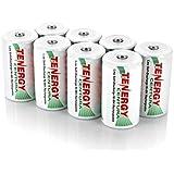 4 Cards: 8 pcs Tenergy Centura D size Low Self Discharge Rechargeable NiMH Batteries 8000mAh