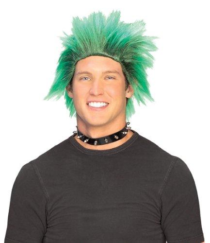 Rubie's Club Dude Wig, Black/Green, One -
