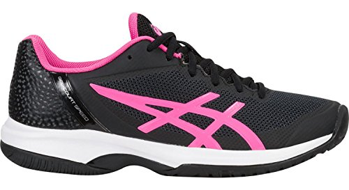 ASICS Womens Gel-Court Speed Sneaker, Black/Hot Pink/White, Size 7