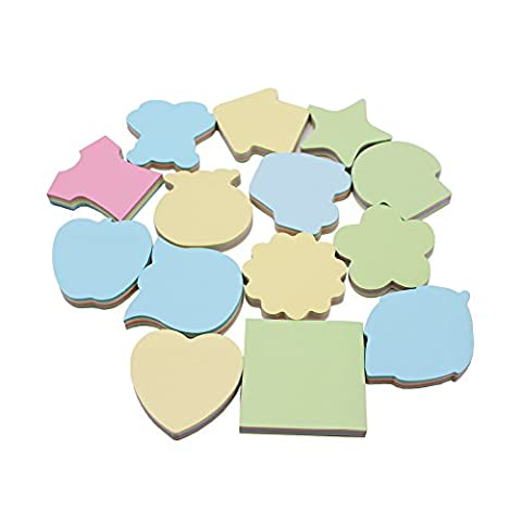 LAOZHOU 14 Pieces Assorted Colors Sticky Notes Self Sticky Notes 3 x 3 Inches 100 Sheets / Pieces (Multi 14 - Star Shaped Sticky Notes