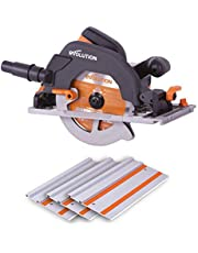 Evolution Power Tools R185CCSX Multi-Material Track Saw (Combination Pack), 185 mm, 230 V