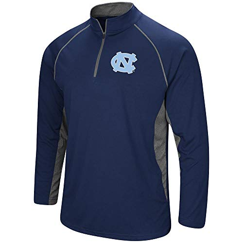 Colosseum Men's NCAA-Rival-1/4 Zip Pullover Windshirt-North Carolina Tar (University North Carolina Tar Heels Basketball)