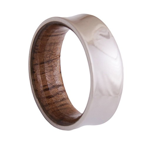 Dimalta Gioielli Titanium Wood Ring Men's Wedding Band Engagement Rings by Dimalta Gioielli