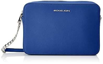 Michael Kors - Jetset Lg Ew Crossbody, Bolsos bandolera Mujer, Azul (Electric Blue), 2x10x23 cm (W x H L)
