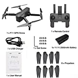 Fullwei NEW SJRC F11 GPS 5G WiFi FPV 1080P HD Camera Foldable Brushless RC Drone Attitude Hold Quadcopter Complete Accessories (black)