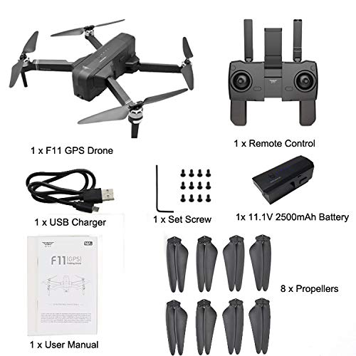 MOZATE New SJRC F11 GPS 5G WiFi FPV 1080P HD Cam Foldable Brushless RC Drone Quadcopter (Black) by MOZATE (Image #8)