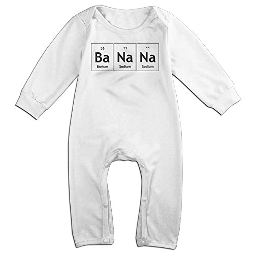 HOHOE Babys BaNaNa Chemistry Elements Long Sleeve Climbing Clothes 18 Months