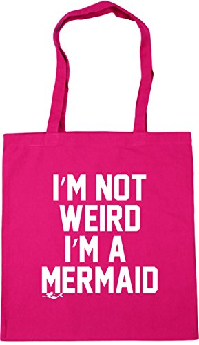 I'm Bag HippoWarehouse mermaid Tote I'm 42cm a Gym not weird x38cm litres Shopping Fuchsia Beach 10 t4qSw4T