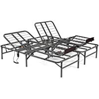 Pragma Bed Pragmatic Adjustable Bed Frame, Head and Foot, King, Gray