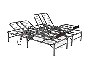 pragma bed pragmatic adjustable bed frame head and foot king gray