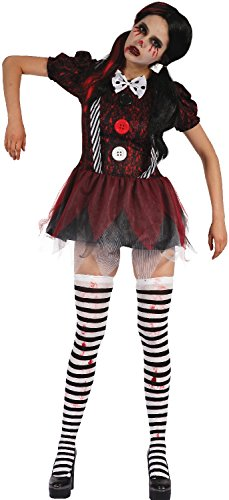 Ladies Dead Rag Doll Creepy Clown Halloween Horror