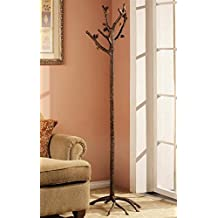 Rustic Western Woodlands Countryside Pinecone Standing Coat Rack Hanger Home Decor Aluminum Metal In Bronze Finish Pine Cone Decorative Festive Holiday Season