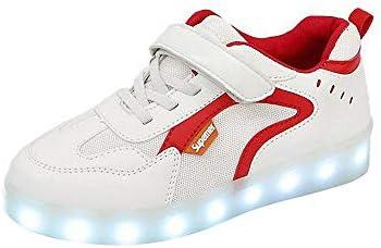 Miarui Concha Zapatos LED para niños USB Carga de Zapatillas Luminosas Flash Deporte de Zapatillas Unisex Zapatillas LED Zapatillas Luces led con Luces del Zapato para Niños Niñas,Rojo,26: Amazon.es: Deportes y aire
