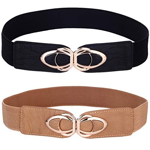 Beltox Womens Belts Elastic Stretch Cinch Plus Fashion Dress Belts for ladies(26