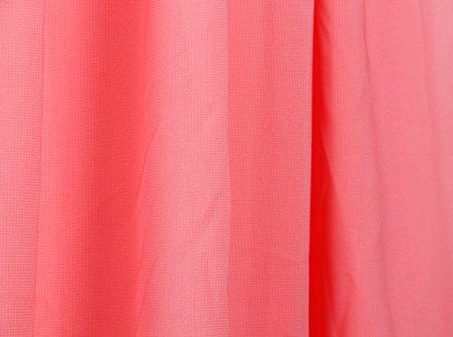 QIYUN.Z Vestido De Coctel Formal Del Vestido De Noche Del Baile De Fin De Curso De La Dama De Honor De La Gasa Del Hombro De Las Mujeres Sandía Roja