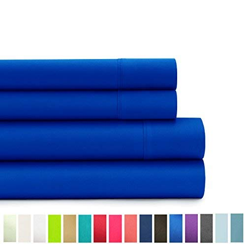 American Home Collection - Deluxe 4 Piece Bed Sheet Sets - Highest Quality of Brushed Microfiber - Wrinkle Resistant Silky Soft Touch (queen, Snorkel Blue) (Snorkel Collection)