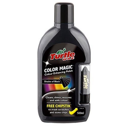 Turtle Wax FG6900 Black Color Magic Plus Colored Car Polish Cleans Shines Restores Scratches Includes Chipstick 500ml