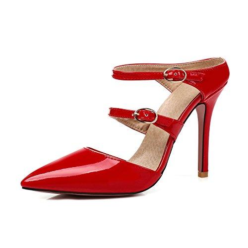 Femmes Format Sandales Fait Flip Haut Grand Red Avec Talon Flop Fin p00wardq