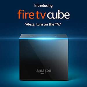 Fire TV Cube, hands-free with Alexa and 4K Ultra HD (includes all-new Alexa Voice Remote), streaming media player