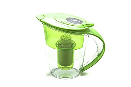 Alkaline Water Filter Pitcher by Health Metric - Highest pH on Amazon from 6 - Stage Filtration - Filters Fluoride Lead & Bacteria - 3.5L. Improves Energy Levels and Boosts Immune System