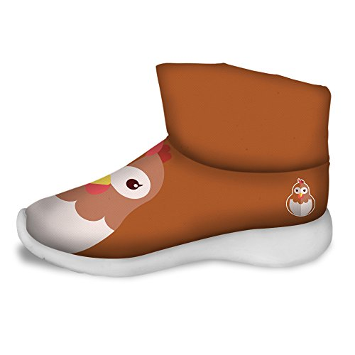 FOR U DESIGNS Cute Hen Print Children Cozy Short Ankle Snow Boots US 11.5 by FOR U DESIGNS (Image #1)