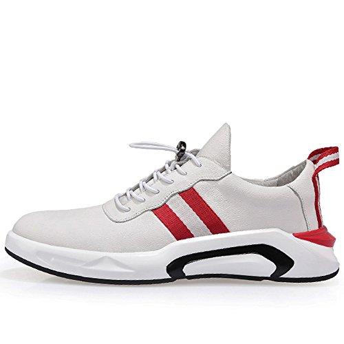 De De Color Zapatos Zapatos Salvaje De Los Cuero Blanco Los De Casuales De Zapatos Marea GOLDGOD Zapatos White Hombres Deportes Hombres Zapatos De AwSqHxvvY