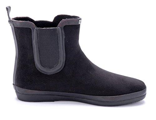 Schuhtempel24 Damen Schuhe Flache Stiefeletten Stiefel Boots Flach Schwarz