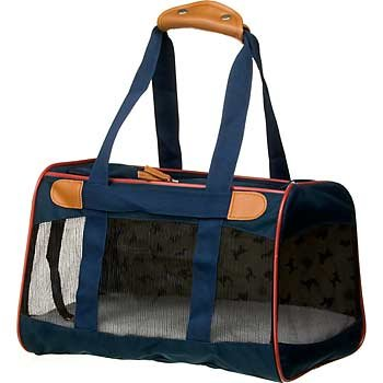 Sherpa American Kennel Club Navy Pet Carrier, Large, Color:Blue, My Pet Supplies